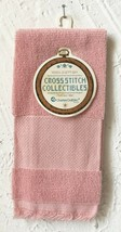 Charles Craft Cross Stitch Fingertip Towel - Rose Cotton 14 Count Border - $7.59
