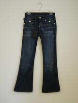 NWT ROCK & REPUBLIC Dark Blue Blue Cotton Flare Leg Jeans 25 - $77.59
