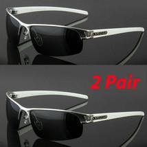 2 PAIR Metal Men Polarized Sunglasses Sport Wrap Around Driving Eyewear Glasses - $12.86