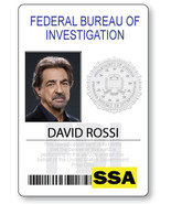 CRIMINAL MINDS DAVID ROSSI NAME BADGE PROP HALLOWEEN COSPLAY MAGNET BACK - $14.84