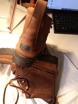 $295 Women Ralph Lauren Brown Leather Hiking Short Boots Size: US 6.5 MEDIUM - $138.99