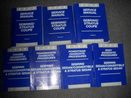 2002 Chrysler Sebring Service Shop Manual Set Dealership Factory 02 Books Huge - $89.09
