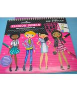 Fashion Angels Design Sketch Portfolio Paper Dolls Draw Color Girls Clot... - $16.99