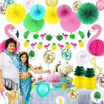 40 Pieces Hawaiian Party Decorations Set Including 2 Tissue Paper Pineapples 2 T - $33.22
