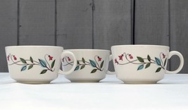 Set of 3 Franciscan Winsome Floral Flowers Leaves Coffee, Tea, Snack Cup - $25.88