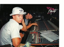 Marky Mark Wahlberg teen magazine pinup clipping in the studio thinking Bop