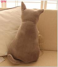 Plush Animal Cushion Cute Seat Sofa Pillow Soft Fashion Back Shadow Cat 45CM NEW - $16.00