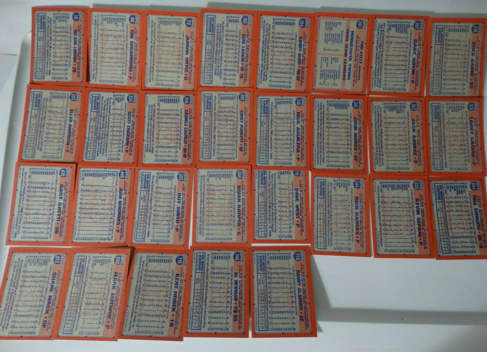 1991 Topps Minnesota Twins Team Set of 29 Baseball Cards image 2