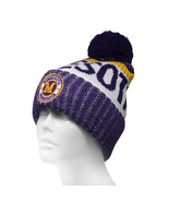 Minnesota Men's Winter Knit Landmark Patch Pom Beanie (Purple/Gold) - $13.75