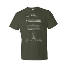 Glass Harp Musical Glasses T-Shirt Patent Art Gift Ghost Fiddle Singing Glasses - $18.95+