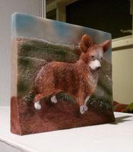 CORGI Dog Ceramic Plaque Painting Wall Art Pet Decor NEW image 3