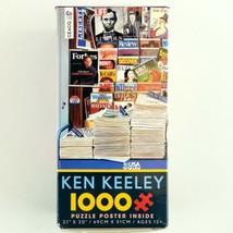 """Jigsaw Puzzle Ken Keeley 1000 Piece Poster 27"""" x  20"""" Historic Newsstand - $14.99"""