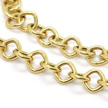 18K YELLOW GOLD CHAIN SQUARE LINK 5 MM, 16.5 INCHES, MADE IN ITALY image 3