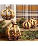Thanksgiving Fall Winter Deer Antlers Hunting Table Centerpiece Pumpkin  - £19.40 GBP