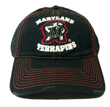 NCAA University of Maryland Terrapins Black Adjustable Distressed Trucker Hat - $19.95