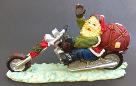Santa Claus Riding a Chopper Motorcycle Christmas Figure Figurine - $23.00