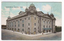 Auditorium Denver Colorado 1910c postcard - $5.45