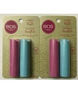 LOT OF 2 - EOS Super Soft Shea Lip Balm 2 Cherry & Bright & 2 Coconut Sn... - $11.74