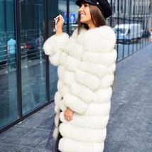 Women's High Fashion Celebrity Style Faux Fox Fur Coat image 2