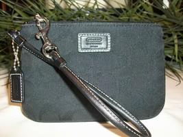 Coach Signature Wristlet Wallet Pouch Black NWOT - $22.00