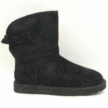 UGG Australia Remora Women Fleece Lined Winter Booties Size US 6 Black Leather - $63.30