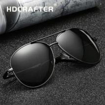 Occhiali da Sole Polarizzati da Uomo Aviator Pilota Vintage Men Sunglasses Black - $29.30