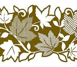 Dundee Deco MGAZB6002A Peel and Stick Floral Golden Leaves, Vines Self A... - $12.76
