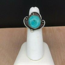 Vintage Navajo Sterling Silver Turquoise Ring Sz 5.75 - $894,87 MXN