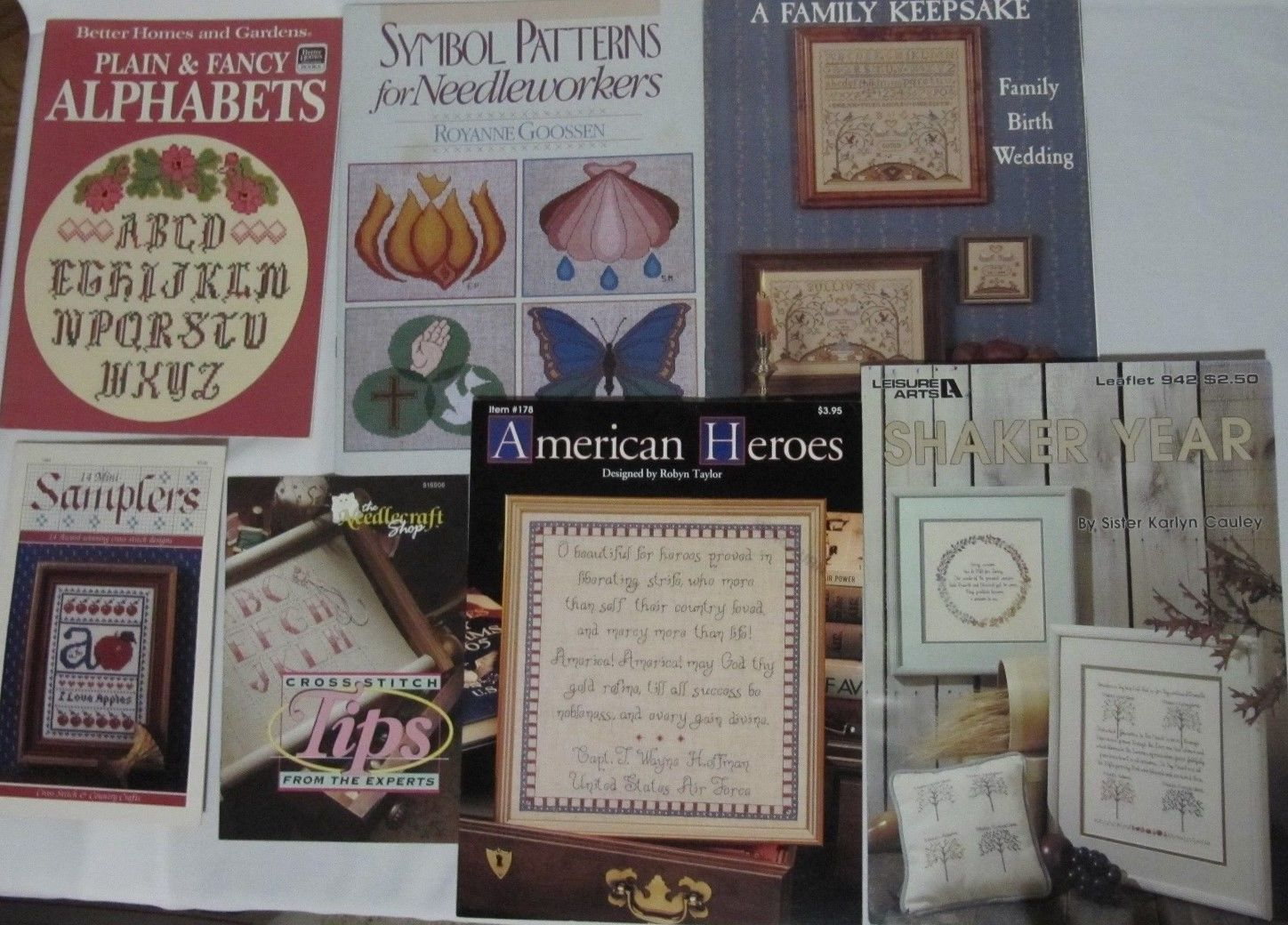 Lot of cross stitch books samplers