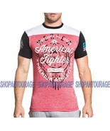 American Fighter Allegiance FM5895 Short Sleeve Red/White T-shirt By Aff... - $42.07