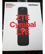 "New Verizon Prepaid ZTE Cymbal LTE Z233V - Silver 4G Lte 4GB 2.8"" Flip P... - $45.80"