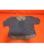 Abercrombie Kid Girl Peasant Top 12 14 16 Red Navy Floral Embroidered Hi... - $24.95