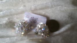 Vintage nice crystal earrings So Downton abbey clip on  lot 110 redo - $18.00