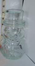 Seven Inch Tall Snowman Clear Glass Canister Ap... - $6.92