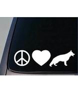 """Peace love German Shepherd sticker H89 8"""" vinyl schutzhund - $6.19"""