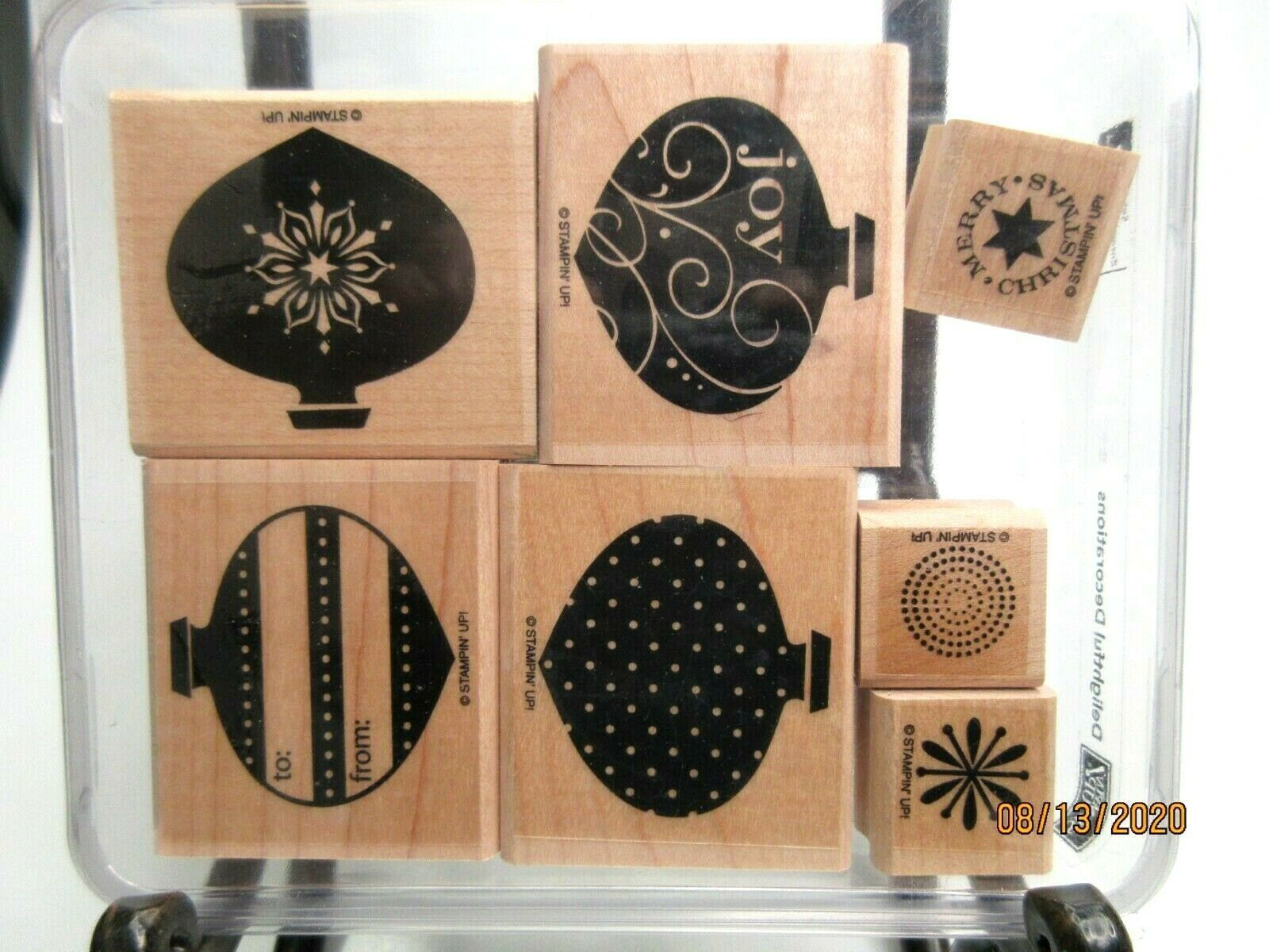 Primary image for Stampin Up Retired Christmas Stamp Sets Wood Mount Collections Gently to Unused
