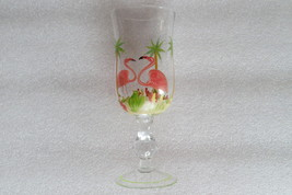 Set of 4 Flamingo gobblets/wine glasses, hand-painted - $47.99