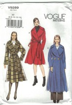 Vogue 9289 Bathrobe Coat Pattern Fit & Flare Misses Size 6-14 or 14-22 U... - $16.99