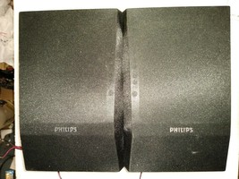 """9CC84 PAIR OF SPEAKERS, PHILIPS MCM196D, 4 OHM, 9"""" TALL, 5-3/4"""" WIDE, 6-... - $19.79"""