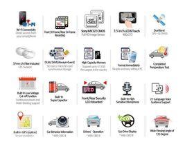 "Lukas LK-9370 Blackbox Dash Camera 2CH Full HD Wi-Fi 3.5""LCD Dual 8Gb+8Gb+GPS image 3"