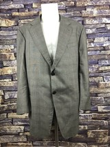 Armani Mens Olive Gray 100% Wool  Sport Coat 48L 2 Button  Made in Italy... - $29.65