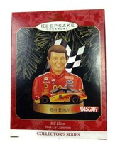 Hallmark Keepsake tree ornament Bill Elliott Nascar Stock Car 1999 in box - $19.79