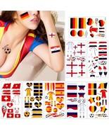 National Flag Temporary Tattoo Football World Cup 2018 Soccer Fan Body S... - $4.99