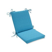Pillow Perfect Outdoor Veranda Turquoise Squared Corners Chair Cushion - £29.22 GBP