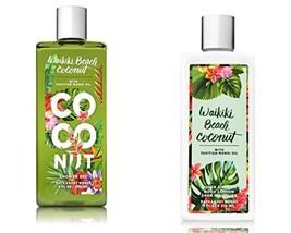 Bath & Body Works Waikiki Beach Coconut Shower Gel and Body Lotion 8 fl oz each
