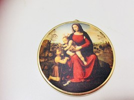 Hallmark Keepsake Christmas Ornament Art Masterpiece Madonna Child Vinta... - $9.64