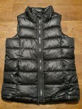 Old Navy Boys Puffer Vest Size Small 6-7 Black Full Zipper Fleece Lined ... - $17.99