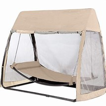 Abba Patio Outdoor Canopy Cover Hanging Swing Hammock with Mosquito Net ... - $258.40