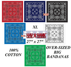 6-MIXED*Hav-A-Hank XL BIG OVER-SIZED PAISLEY BANDANA Head Wrap Neck Scar... - $34.99