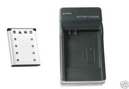 Battery + Charger for Casio EX-Z35BK EXZ35SR EXZ35PK EX-Z330 - $26.96